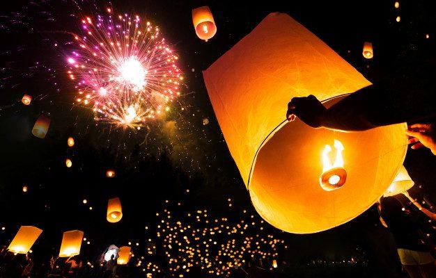 Comment allumer une lanterne volante ?